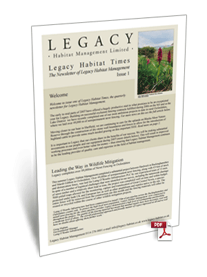 Legacy Habitat Issue 1