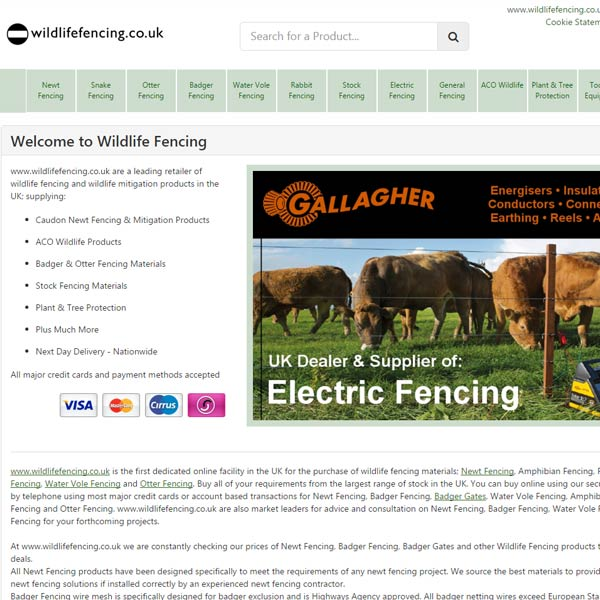 Wildlife Fencing Website